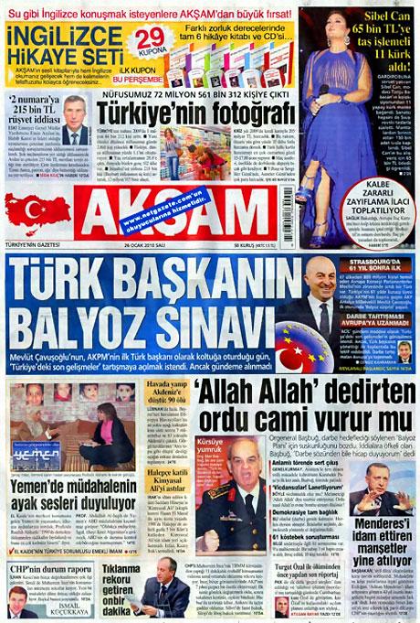 Gazetelerin 'Allah Allah' manşetleri galerisi resim 17