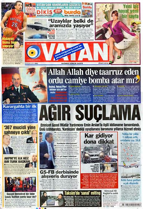 Gazetelerin 'Allah Allah' manşetleri galerisi resim 19