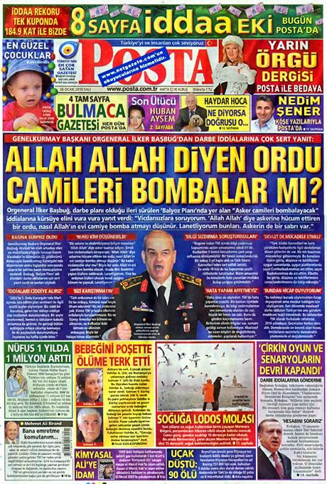 Gazetelerin 'Allah Allah' manşetleri galerisi resim 2