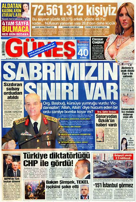 Gazetelerin 'Allah Allah' manşetleri galerisi resim 8