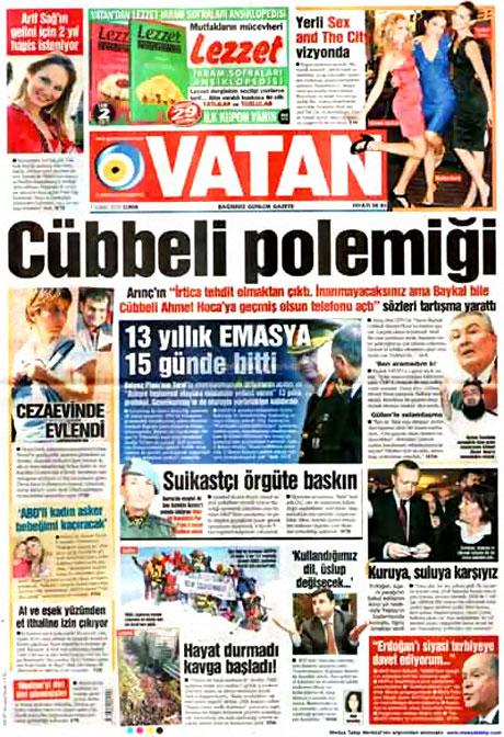 Cübbeliyi manşete hangi gazete çekti? galerisi resim 21