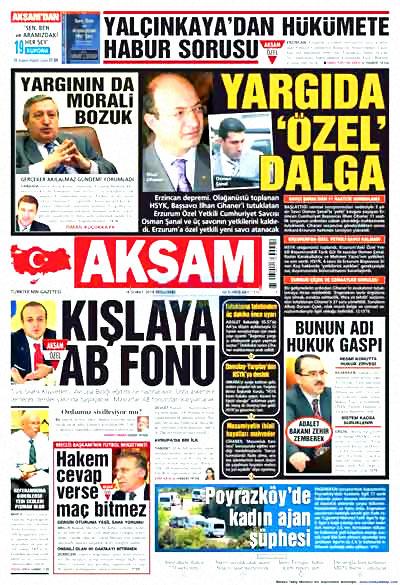 Yargı darbesi gazete manşetlerinde! galerisi resim 1