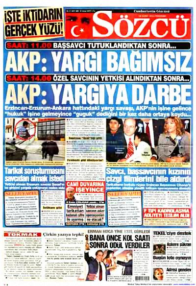 Yargı darbesi gazete manşetlerinde! galerisi resim 11