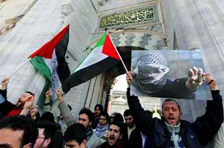 Onbinler İstanbul'da İsrail'i protesto etti! galerisi resim 11