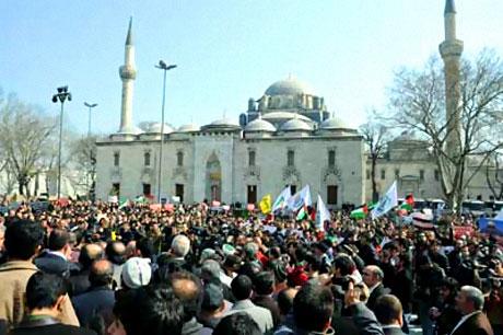 Onbinler İstanbul'da İsrail'i protesto etti! galerisi resim 14