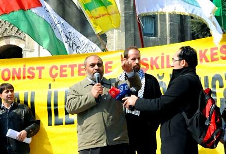 Onbinler İstanbul'da İsrail'i protesto etti! galerisi resim 16