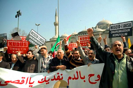 Onbinler İstanbul'da İsrail'i protesto etti! galerisi resim 18