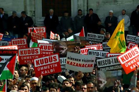 Onbinler İstanbul'da İsrail'i protesto etti! galerisi resim 2