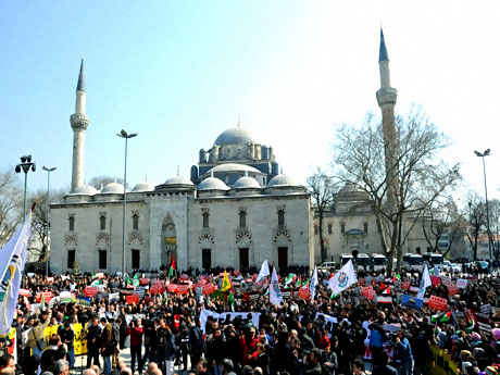 Onbinler İstanbul'da İsrail'i protesto etti! galerisi resim 3