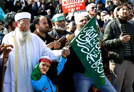 Onbinler İstanbul'da İsrail'i protesto etti! galerisi resim 9