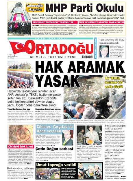 Yeniçağ'dan Erdoğan'ı kızdıran manşet galerisi resim 7