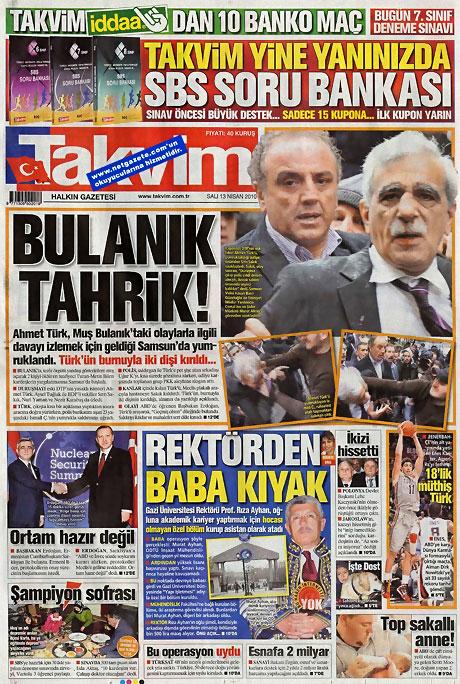 Gazeteler Türk'e saldırıyı nasıl gördü? galerisi resim 14
