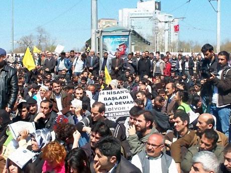 Taksim'de Binler Türk'e Saldırıyı kınadı galerisi resim 18