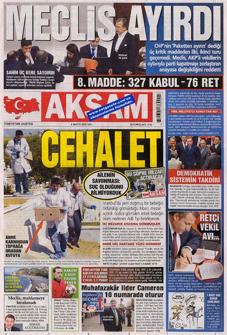 Gazetelerden çarpıcı FİRE manşetleri galerisi resim 1