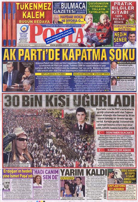Gazetelerden çarpıcı FİRE manşetleri galerisi resim 11