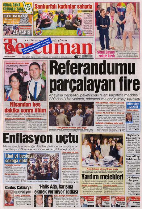 Gazetelerden çarpıcı FİRE manşetleri galerisi resim 19