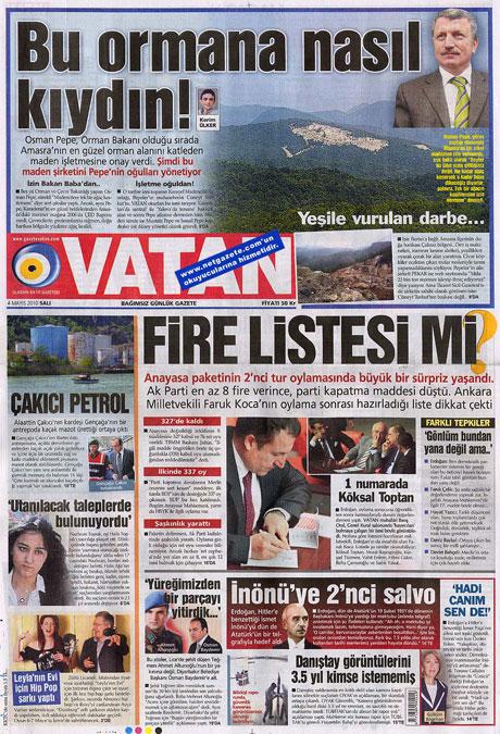 Gazetelerden çarpıcı FİRE manşetleri galerisi resim 22