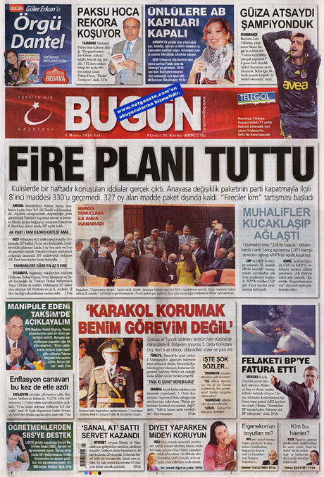 Gazetelerden çarpıcı FİRE manşetleri galerisi resim 3