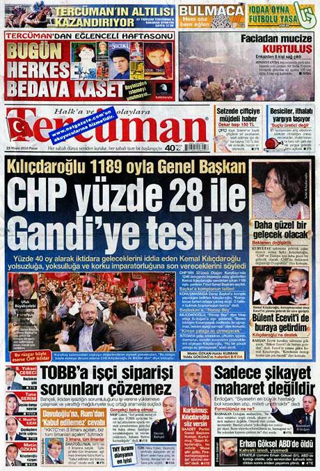 Gazetelerin Kılıçdaroğlu manşetleri galerisi resim 10