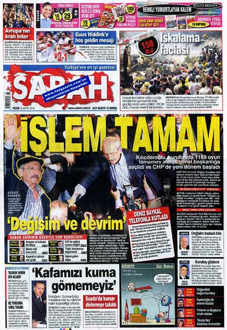 Gazetelerin Kılıçdaroğlu manşetleri galerisi resim 3