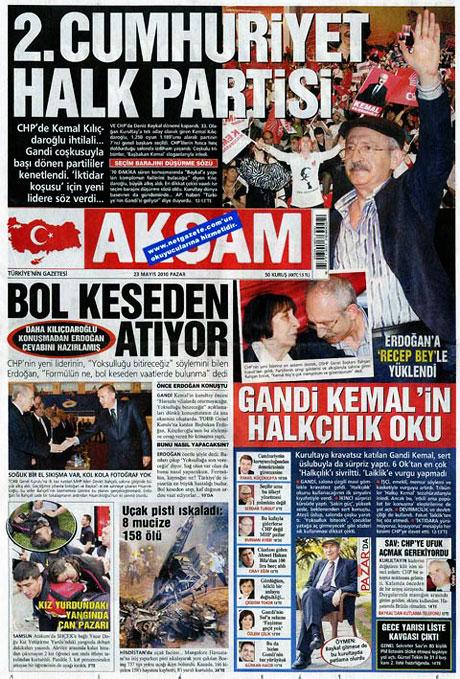 Gazetelerin Kılıçdaroğlu manşetleri galerisi resim 4