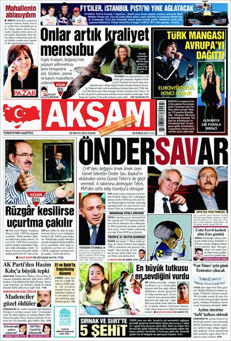 CHP'deki Tekin-Sav savaşı Manşetlerde galerisi resim 1