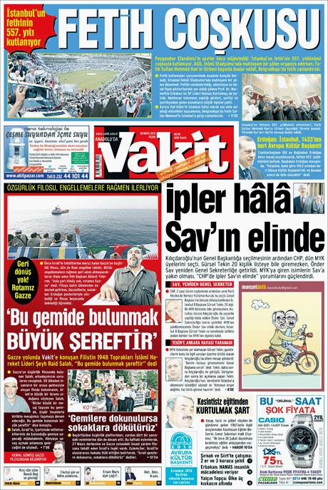 CHP'deki Tekin-Sav savaşı Manşetlerde galerisi resim 13