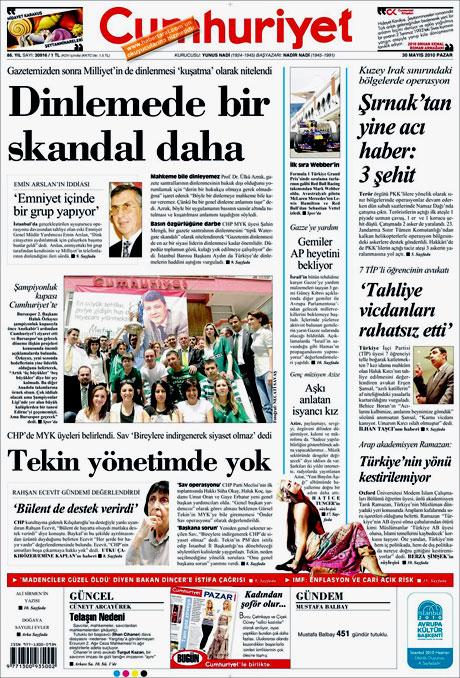 CHP'deki Tekin-Sav savaşı Manşetlerde galerisi resim 4