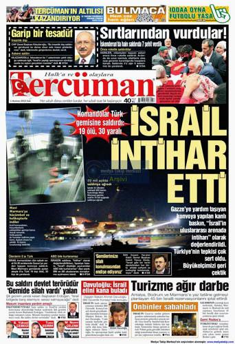 İsrail Korsanlığına çok sert manşetler galerisi resim 12