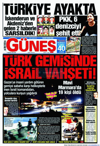 İsrail Korsanlığına çok sert manşetler galerisi resim 2