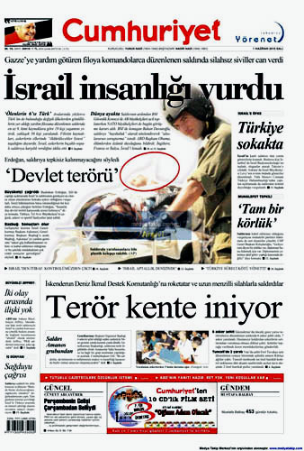 İsrail Korsanlığına çok sert manşetler galerisi resim 6