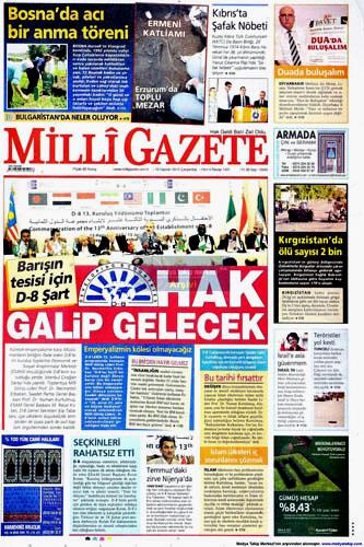 Günün en çarpıcı gazete manşetleri galerisi resim 8