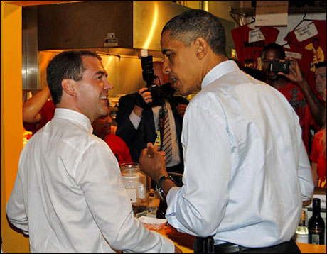Obama ve Medvedev hamburgerci'de galerisi resim 10
