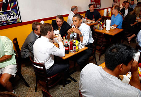 Obama ve Medvedev hamburgerci'de galerisi resim 15