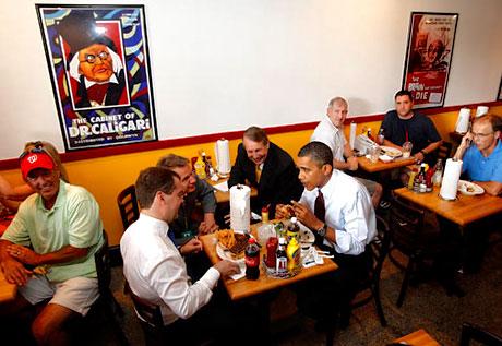 Obama ve Medvedev hamburgerci'de galerisi resim 17