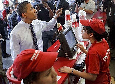 Obama ve Medvedev hamburgerci'de galerisi resim 7