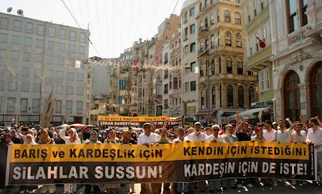 İslamcılar Kürtler için yürüdü galerisi resim 1