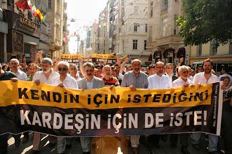 İslamcılar Kürtler için yürüdü galerisi resim 4