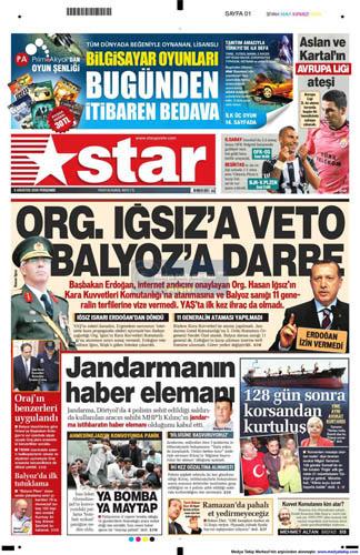 Gazetelerin müthiş YAŞ manşetleri galerisi resim 13
