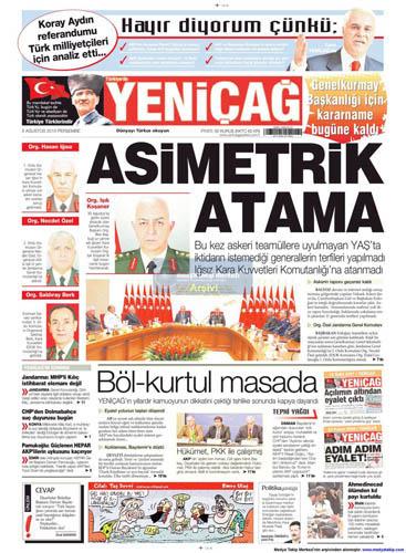 Gazetelerin müthiş YAŞ manşetleri galerisi resim 17