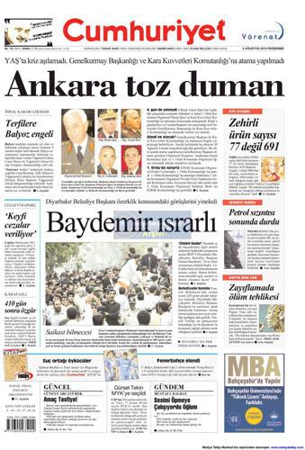 Gazetelerin müthiş YAŞ manşetleri galerisi resim 3