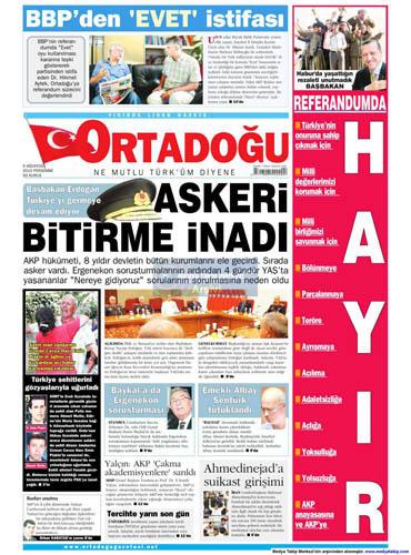 Gazetelerin müthiş YAŞ manşetleri galerisi resim 7
