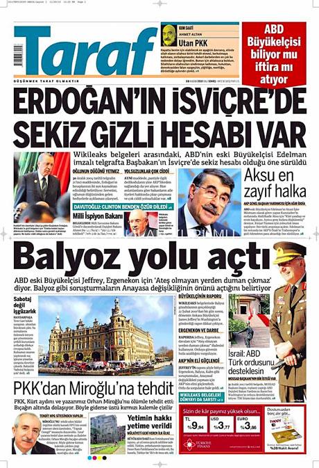 Türk basınında Wikileaks manşetleri galerisi resim 14