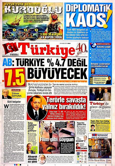 Türk basınında Wikileaks manşetleri galerisi resim 15
