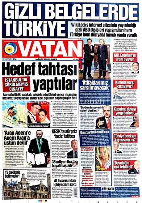 Türk basınında Wikileaks manşetleri galerisi resim 16