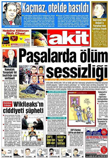Türk basınında Wikileaks manşetleri galerisi resim 3