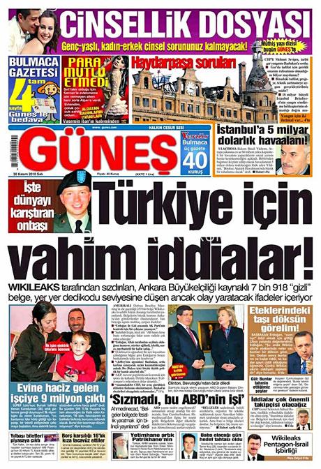 Türk basınında Wikileaks manşetleri galerisi resim 6