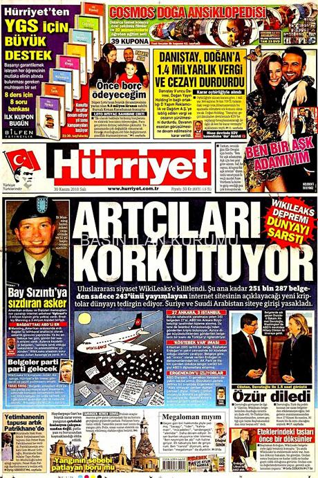 Türk basınında Wikileaks manşetleri galerisi resim 8
