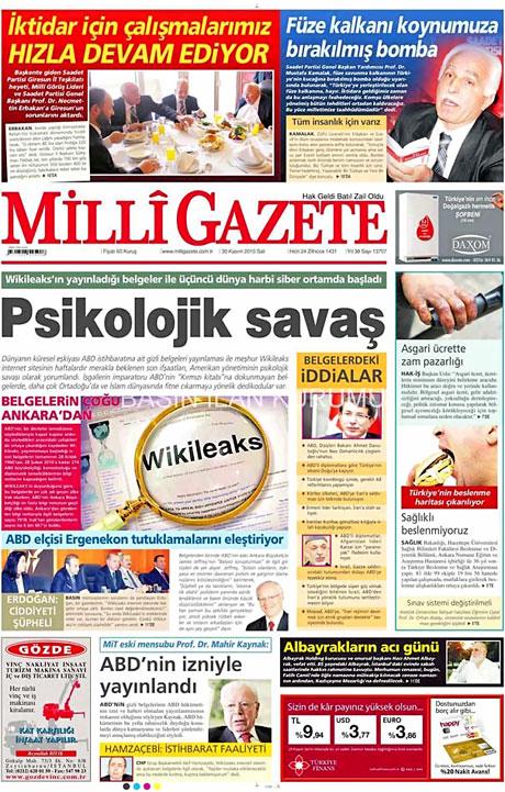 Türk basınında Wikileaks manşetleri galerisi resim 9