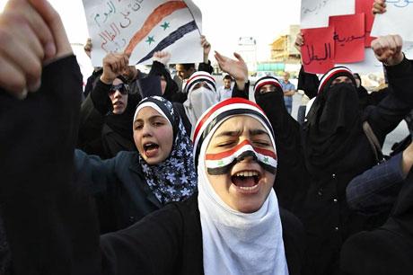 Suriye'de gösteriler büyüyor galerisi resim 17